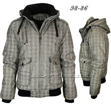 Men's Winter Jacket 98-86 Jacket Canvas Stand Up Collar Hooded Size S-XXL White