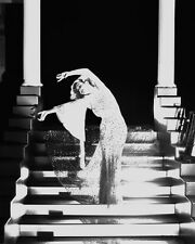 JOAN CRAWFORD B&W ON STAIRCASE DRAMATIC PHOTO OR POSTER