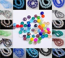 99pcs Charm 3x4mm Rondelle Faceted Glass Crystal Finding Spacer Loose Beads