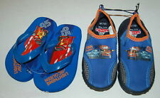 Toddler Watershoes FLIP FLOPS S 5-6 M 7-8 L 9-10 LIGHTNING MCQUEEN Cars BLUE