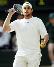 ANDY RODDICK WHITE TENNIS OUTFIT ON COURT PHOTO OR POSTER