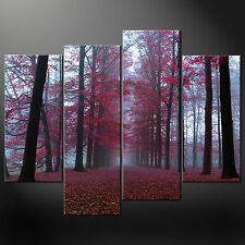 LONG WALK IN THE FOREST MODERN CASCADE CANVAS PRINT MANY SIZES FREE UK P&P