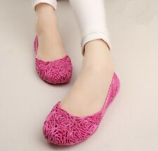 New 2014 Summer Hole Shoes Hollow Flower Beach Sandals Nest Crystal Jelly Shoes