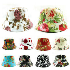 Bucket Sun Canvas Hat Boonie Floral Camping Hunting Fishing Outdoor Cap Unisex