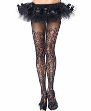 PLUS SIZE Women's Sexy Floral Vine Net Tights Pantyhose Black Leggings Hosiery