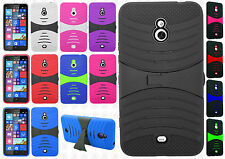 For Nokia Lumia 1320 Hard Gel Rubber KICKSTAND Hard Case Phone Cover Accessory