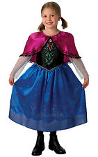 NEW Disney's Frozen, Anna - Deluxe Travelling Outfit Girls Fancy Dress Costume