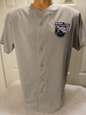 4629 Majestic PENN STATE NITTANY LIONS Full Button Down Baseball JERSEY GRAY New
