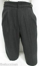 Boy's Charcoal Gray Hickory Striped Morning Trousers Victorian Dickens Costume