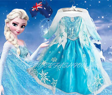 NWT FROZEN ELSA DRESS LATEST RELEASE SELL OUT FOR AGE 3-10 anni