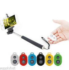 Bluetooth Monopod Selfie Extendable Wireless Remote Control For iPhone Samsung