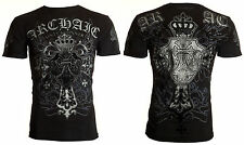 Archaic AFFLICTION Men T-Shirt SINESTRO Cross Tattoo Biker Gym MMA UFC S-4XL $40