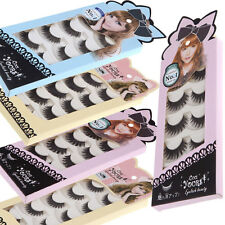 5Pairs False Eyelashes Hand-made Thick Long Voluminous Fake Lashes PICK ANY TYPE