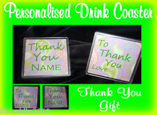 Personalised Drink Coaster - Thank You Gift - Vintage Paisley Drink Coaster