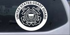United States Coast Guard Car or Truck Window Laptop Decal Sticker