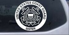 United States Coast Guard Sister Car or Truck Window Laptop Decal Sticker