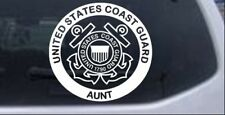 United States Coast Guard Aunt Car or Truck Window Laptop Decal Sticker