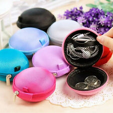Zipper Clutch Earbud Wallet Pouch Bag Coin Purse Pocket Hard Case For SD TF Card