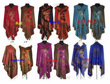 9 Colors Optional Chinese Women Pashmina/Silk Shawl/Scarf With Butterfly