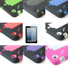 For Apple iPad mini Armor Hybird Hard Cover Case W/KickStand + Screen Protector