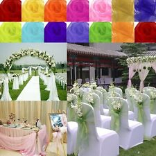 5M*1.35M Top Table Runner Swags Sheer Organza Fabric DIY Wedding Party Bow