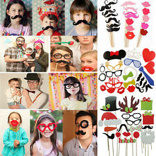 DIY Party Masks Photo Booth Props Mustache Lip Hat On A Stick Wedding XMAS Favor