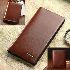 Fashion New Mature Men's Stylish Purses Real Leather Clutch ID Wallets Bag CR123