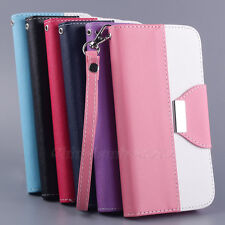 Stylish Flip Leather Pouch Money Wallet Card Clip Stand Hard Skin Case Cover