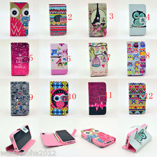 New Hybrid PU Leather Wallet Flip Pouch Stand Case Cover For iPhone 4G 4S