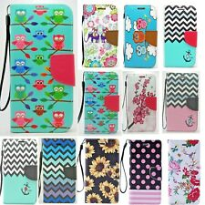 Genuine Leather Wallet Card Holder Flip Stand Case Cover For Samsung Galaxy