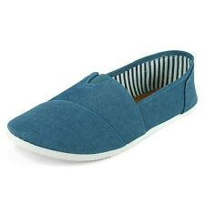 Womens Canvas Ballet Flat Espadrille Cotton Loafer Slip On Comfort Shoes Sneaker