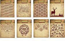 """CRAFTER'S COMPANION 6"""" X 6"""" EMBOSSING FOLDERS / VINTAGE CHRISTMAS COLLECTION"""