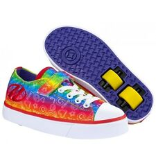 Heelys Snazzy Junior Size Girls Lace Heely Wheel Roller Shoe - Rainbow