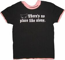 Juniors Women's Black Emily the Strange There's No Place Like Alone T-Shirt Tee