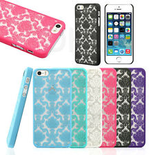 For Apple iPhone 5 5S Rubberized Damask Vintage Pattern Matte Hard Case Cover