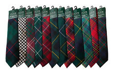 Great Gift:  Scottish Clan Tartan Ties, Many Tartans Available! A-M