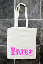 Personalised Custom Favour Keepsake Gift Canvas Tote Bag Wedding Hen Party