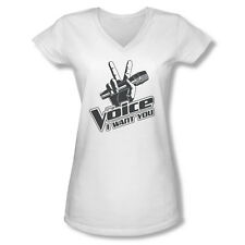 The Voice Reality Sing Contest TV Show One Color Logo Juniors V-Neck T-Shirt Tee