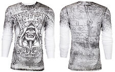 Xtreme Couture AFFLICTION Mens THERMAL T-Shirt DEATH LIST Tattoo Biker M-3XL $58