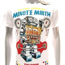 m256w Minute Mirth T-shirt Tattoo Skull Tin Toy Robot Graffiti Surf Gangster Men