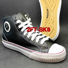 PF FLYERS by NEW BALANCE CENTER HI LEATHER BLACK MENS CASUAL SNEAKERS SHOES