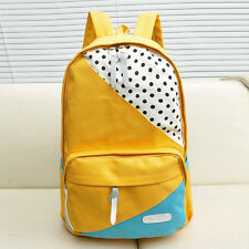 Women Girl Unisex Travel Backpack Canvas Leisure Bags School bag Rucksack  F