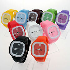 NEW JELLY SILICONE RUBBER GIRLS' BOYS' SPORTS WRIST WATCH MEN'S LADIES