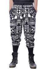 Egyptian Joggers Pharaoh Isis Killstar Witchcraft Occult Alien Gothic Sweatpants