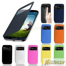 New Smart Sleep Window View Leather Flip Cover Case For Samsung Galaxy S4 i9500
