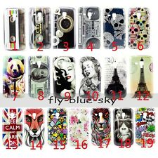 Retro Cartoon Flower Pattern Hard Case Cover For Samsung Galaxy Trend Duos S7562