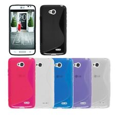 S Line Wave Soft Slim TPU Gel Silicone Back Case Cover Skin For LG Optimus L70