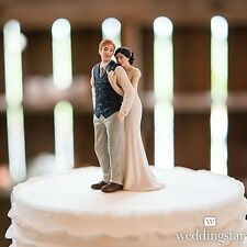 A Sweet Embrace Porcelain Wedding Cake Topper WITH Custom Hair Colors
