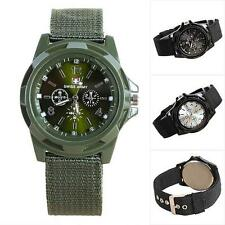 Leisure NEW Classic Design Quartz Men's Wrist Watch Nylon Band Swiss Army Watch