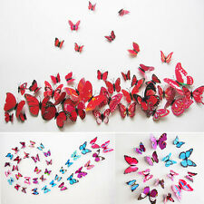Latest Sticker Art Design Decal Wall Stickers Home Decor Room 3D Butterfly